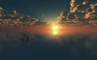 Sunset Reflections Digital