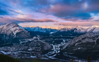 Sunset Sulphur Mountain Banff National Park