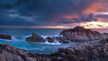 Sunset Time Canal Rocks Western Australia