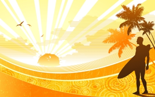 Sunshine Widescreen Vector
