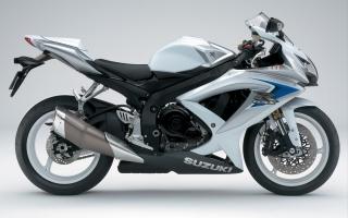 Suzuki GSX R600 White Mix