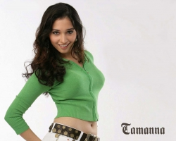Tamanna in Green Top