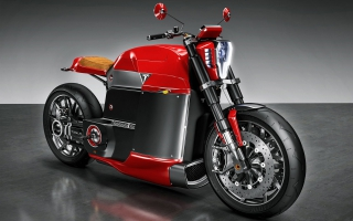 Tesla Model M Concept Electric Motorcycle