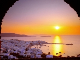 The Cyclades Islands at Sundown Wallpaper Greece World