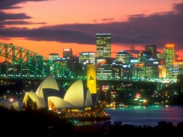 The Lights of Sydney Wallpaper Australia World
