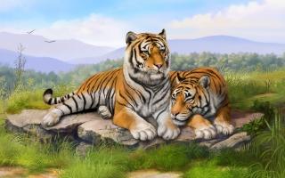 Tigers Art