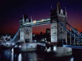 Tower Bridge at Night Wallpaper England World