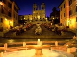 Trinita dei Monti Church Wallpaper Italy World