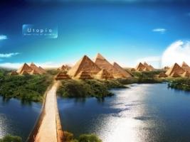 Utopia Wallpaper Photo Manipulated Nature