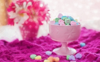 Valentine Love Hearts Candies