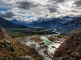 Valley in the Andes Wallpaper High Dynamic Range Nature