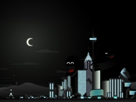 Vector city Wallpaper Vector 3D