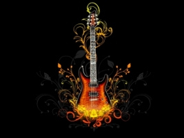 Vector Guitar Wallpaper Vector 3D