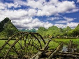 Vietnam village Wallpaper Vietnam World