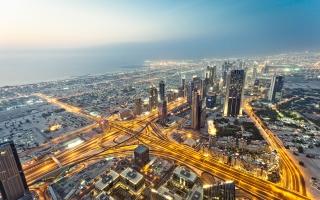 View From Burj Khalifa Dubai