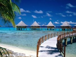 Walkway to Paradise French Polynesia