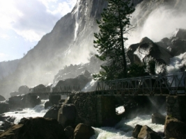 Wapama Falls Wallpaper Rivers Nature