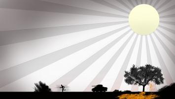 War & Sun Vector