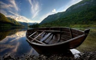 Wooden Boat Wallpaper Landscape Nature