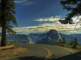 Yosemite road Wallpaper United States World